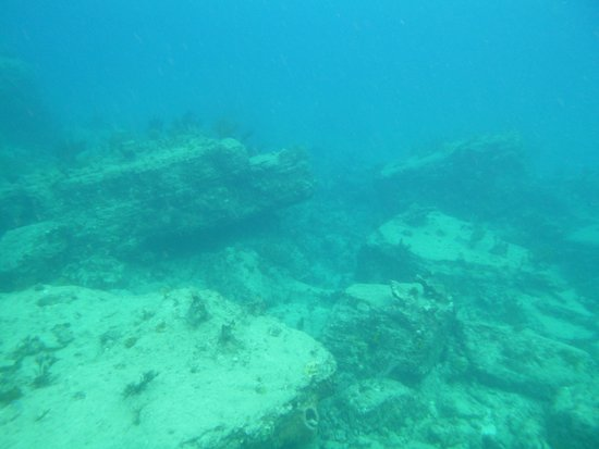 Pillars of Hercules : Huge limestone boulders about 20 feet down, having obviously eroded and fallen over many many ye