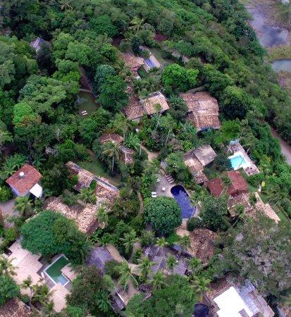 Pousada Capim Santo: O Capim Santo visto do alto, de drone.