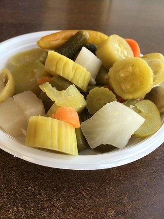 Lakis Restaurant Baalbek pickeled plate