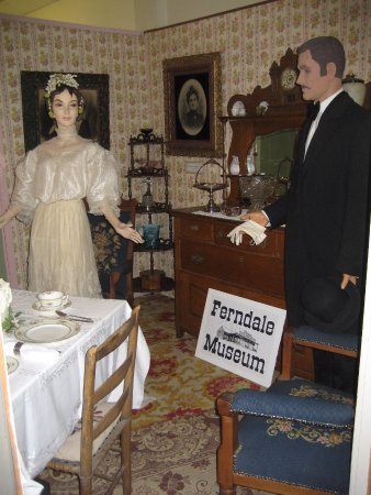 Victorian elegance in the drawing room at the Ferndale Museum.