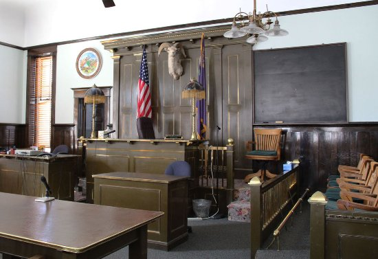 Courtroom in Esmeralda County Courthouse, Goldfield