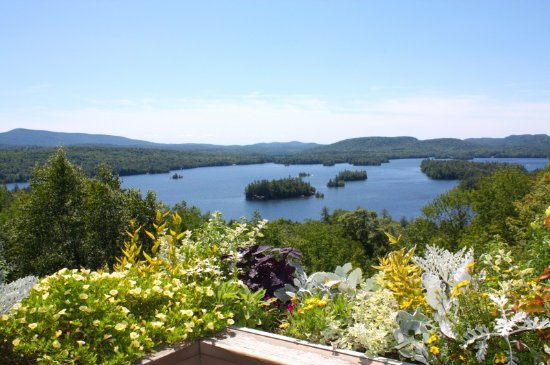 View of Blue Mountain Lake from the Cafe