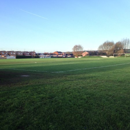 Mansfield, UK: View across the playing fields.