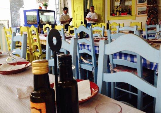 Restaurante Dona Barca: En fin de repas, la salle est vide, j'en ai profité pour faire une petite phoho...