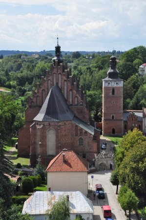 Biecz, Polen: Widok z wieży ratuszowej.