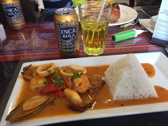 Pescado A Lo Macho Trout With Seafood Sauce Picture Of Pio Peruvian Rotisserie Chicken Calgary Tripadvisor