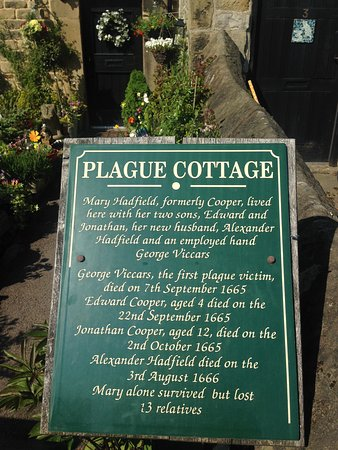 Eyam, UK: An outstanding guided tour which included the cottages where the Plague is believed to have firs