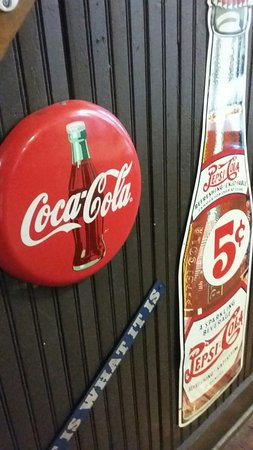 Winona, MS: Some of the fun collectibles at The Tracks.