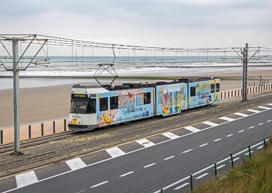 The Kusttram offers wonderful views of the Belgian coast and makes for a great way to explore th