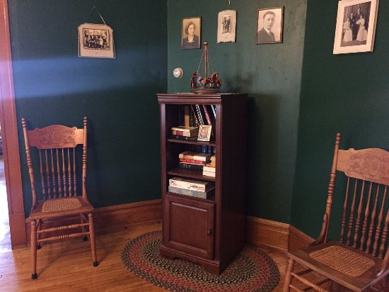The Sawyer House Bed and Breakfast, Llc: One of the sitting rooms