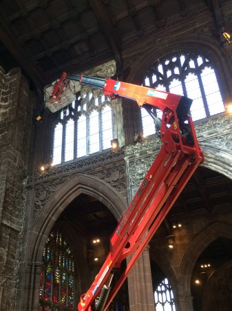 Manchester Cathedral: Repair work continues inside the cathedral
