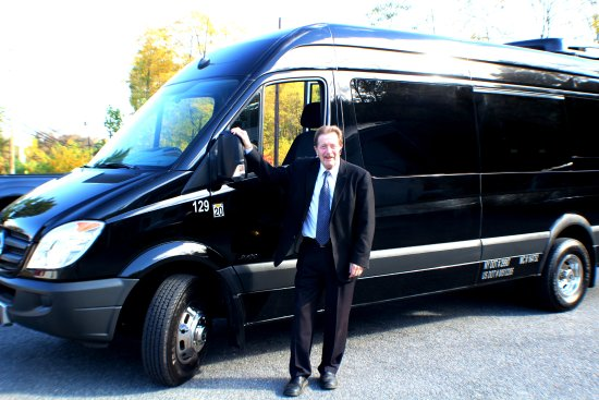 Newburgh, NY: Our chauffeur Lance looking spiffy with one of our Sprinter Vans!