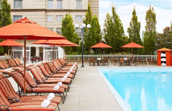 terrace pool picture of grand hyatt atlanta in buckhead. Black Bedroom Furniture Sets. Home Design Ideas
