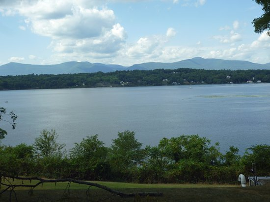Germantown, NY: View of Hudson River from Front of House