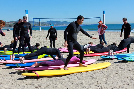 Dana Point, كاليفورنيا: We offer surf lessons for adults and corporate groups up to 20 people.