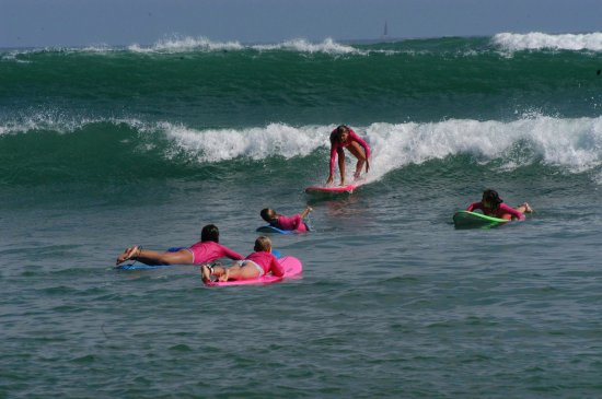 Dana Point, كاليفورنيا: Book a private lesson or a surf camp--we will have you surfing in no time!
