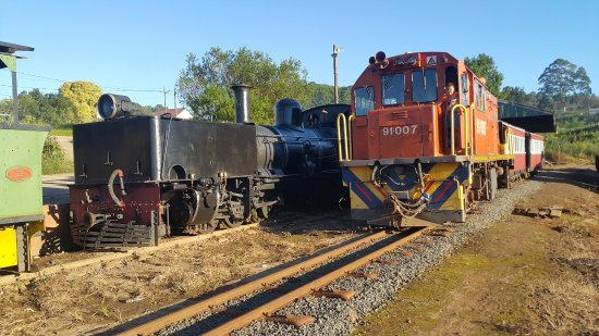 Ixopo, South Africa: A diesel locomotives is used on days of fire risk