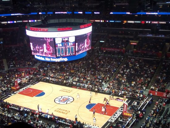 Staples Center: Visão das últimas fileiras