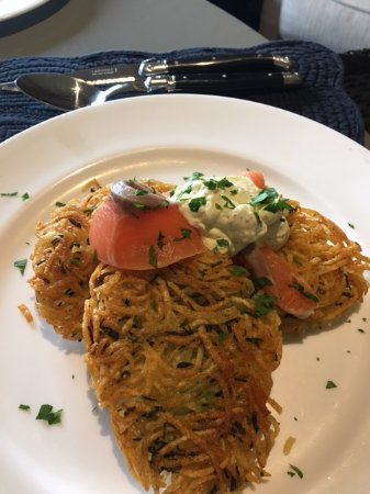 The Orchard Luxury B&B: Out of this world potato cakes with salmon