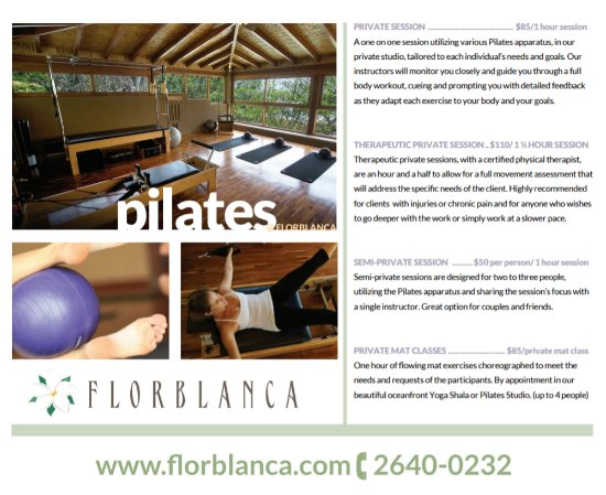 Florblanca - Pilates: Service and Pricing