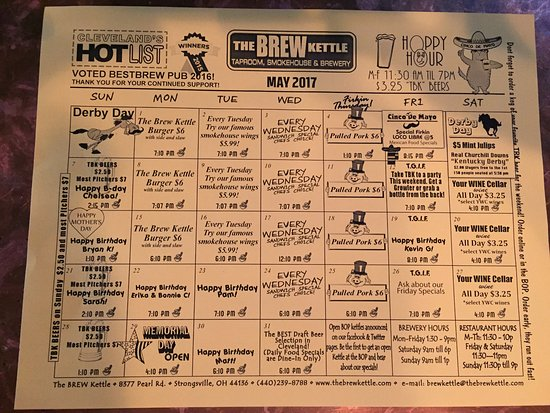 Brew Kettle Taproom & Smokehouse: specials