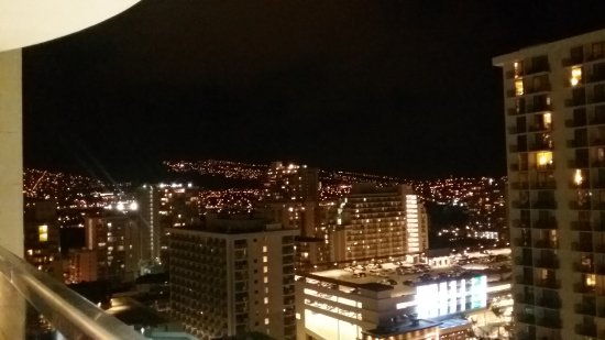 Sky Waikiki: You can see the mountainside all lit up!