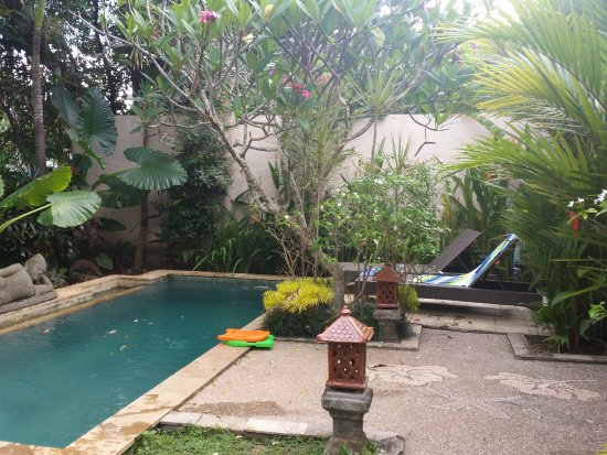 Lily Lane Villas: Private Pool with pool toys for kids in Villa 3