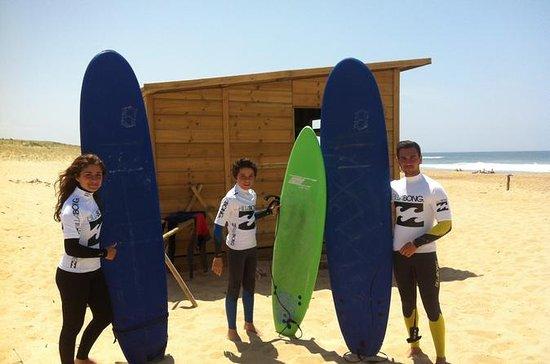 2 horas de aula de surf em Hossegor