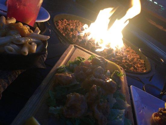 Demetriu0027s Woodstone Taverna: Fire Lit Late Night Happy Hour On The Patio