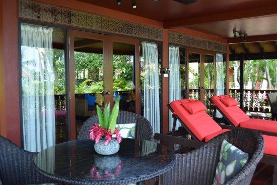 Banyan Villas (Thailand) Co., Ltd.: Banyan Villa 3 Lower Terrace (in front of main shared pool)