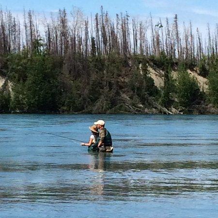 Cooper Landing, AK: Family fishing on the Kenai
