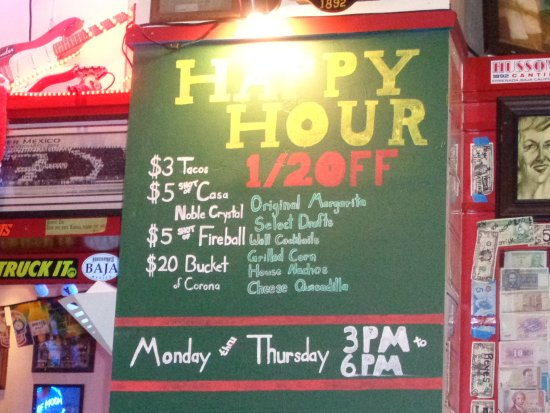 Hussong's Cantina: Happy Hour