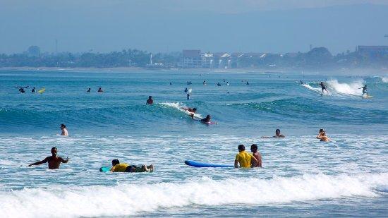 Surfing at Kuta Beach