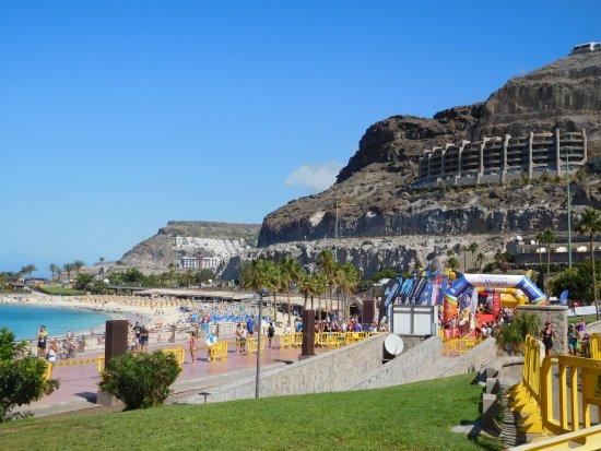 Playa De Amadores Con Competición De Triatlón Picture Of