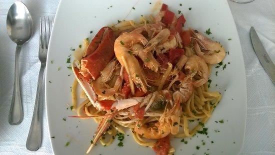 Bovalino Marina, Italia: spaghetti ai crostacei. deliziosio