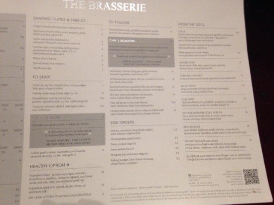 Skelton, UK: Main menu sample