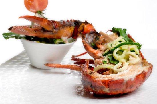 Flers, Fransa: homard grillé