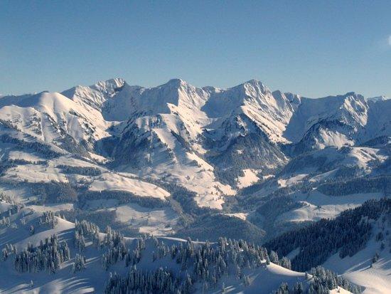 Moleson, Suiza: Widok ze szczytu na wschód