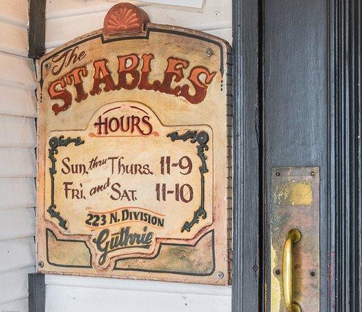 Stables Cafe Guthrie Ok Menu