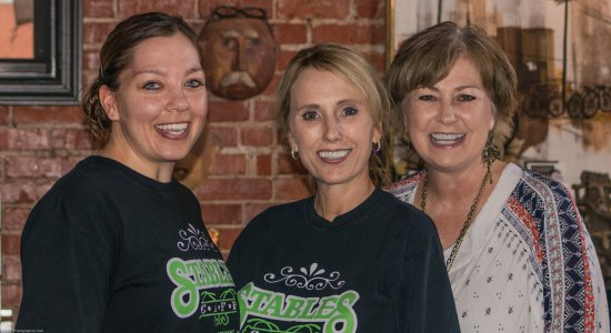 Stables Cafe : Alex Hammock, Tammy Mayberry, and owner Debra Prather