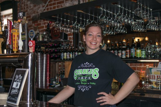 Guthrie, OK: Alex Hammock, bartender of the Tap Room and lovely woman as well