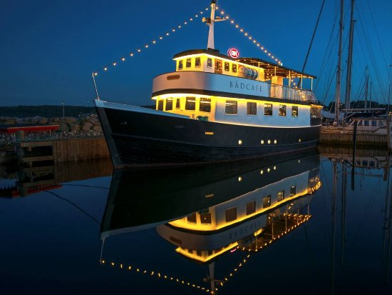 Aftenbillede af Bådcafé