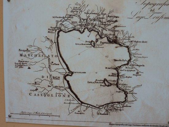 San Feliciano, Italy: Map of Trasimeno