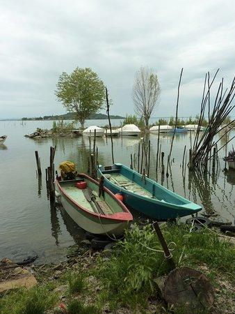 San Feliciano, Italy: fisherman boat