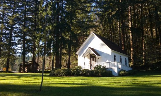 Oregon City, OR: The pioneer church at Baker Cabin
