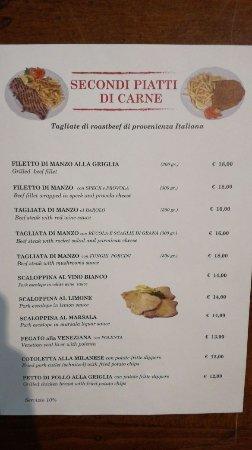Pizzeria Vesuvio: I nostri secondi piatti di carne, solo le carni migliori e sughi fatti al momento dallo chef