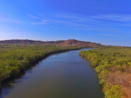 Drone View from the Estuary in Playa Grande National Park