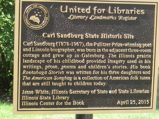 Galesburg, IL: plaque in front of his house