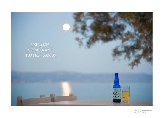 Logaras, Grecia: Full moon with local beer on Fisilanis Restaurant!!!