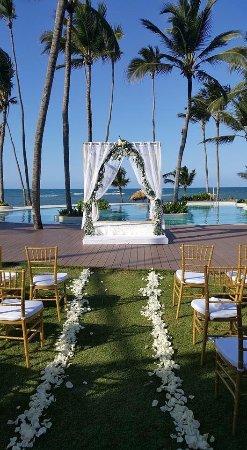 Zoetry Agua Punta Cana Wedding Set Up On Indigo Pool Deck